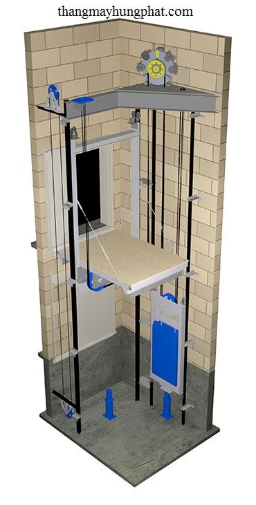 thang máy gia đình không phòng máy